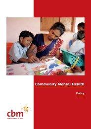 Community Mental Health policy - CBM