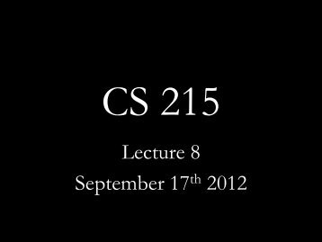 Lecture 8 September 17th 2012 - Network Protocols Lab