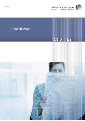 Marktbericht August 2005