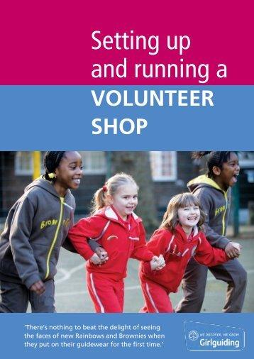 volunteer shop - Girlguiding UK