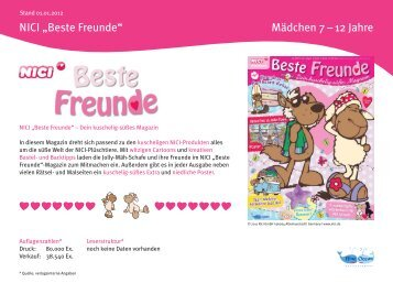 "Nici ""Beste Freunde"" - Blue Ocean Entertainment"