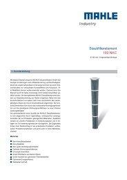 Staubfilterelement 160 NKC - MAHLE Industry - Filtration