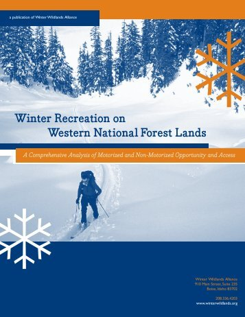 Winter Recreation on Western National Forest Lands
