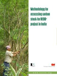 Methodology for assessing carbon stock for REDD+ project in India