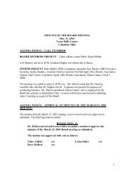 05-31-02 minutes of the board meeting - The Ohio Board of Dietetics ...