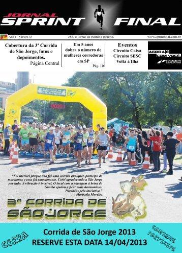 Corrida de São Jorge 2013 RESERVE ESTA DATA 14/04/2013