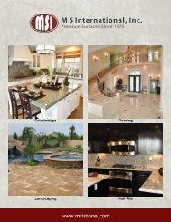 2013 General Brochure - Natural Stone
