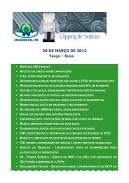 20 DE MARÇO DE 2012 Terça – feira - Sindimetal/PR