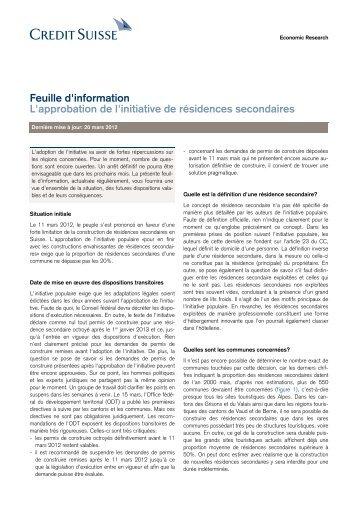 [PDF] Credit Suisse - Romandie.com