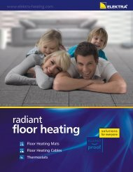 Floor heating - leaflet (US/CAN) - Elektra