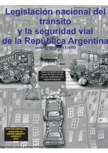 Ley Nacional de Tránsito y Seguridad Vial - Educación Vial ...
