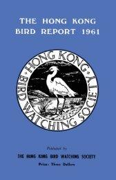 1961 - Hong Kong Bird Watching Society