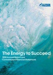 GM&T Annual Report 2010 - Gazprom Marketing & Trading