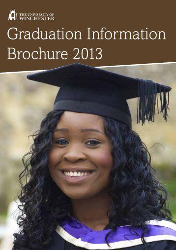 Graduation Information Brochure 2013 - University of Winchester