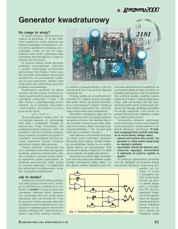 Generator kwadraturowy (162KB) - Elportal