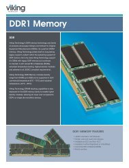 DDR1 Product Brief - Viking Technology