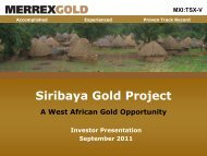 MXI:TSX-V - Merrex Gold Inc.