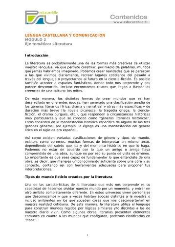 Literatura Modulo 2 - Sector Lenguaje y Comunicación
