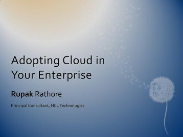 Adopting Cloud in Your Enterprise