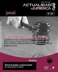 SUSPENSIÓN DEL JUICIO A PRUEBA. - Actualidad Jurídica