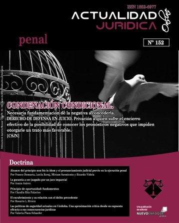 CONDENACIÓN CONDICIONAL. - Actualidad Jurídica