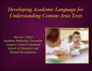 Developing Academic Vocabulary - Presentation - Center on ...