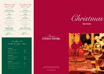 Christmas Day Lunch Menu New Years Day