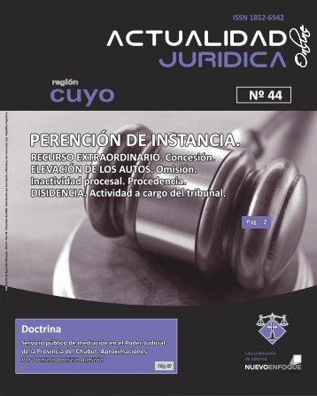 PERENCIÓN DE INSTANCIA. - Actualidad Jurídica