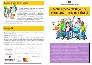 os direitos da criança e do adolescente com deficiência - Defensoria