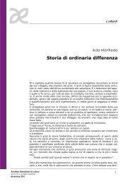 Storia di ordinaria differenza - Amaltea