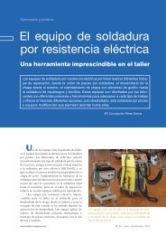 El equipo de soldadura por resistencia eléctrica - Centro Zaragoza