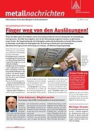 metallnachrichten - IG Metall 4 you