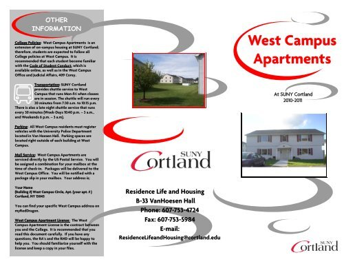 West Campus Apartments - SUNY Cortland
