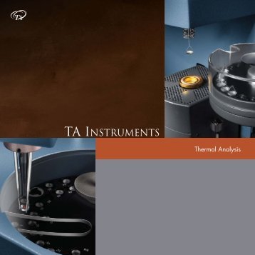 technical specifications - TA Instruments
