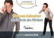 Nouveau Calendrier de Collecte des Déchets - Angoulême
