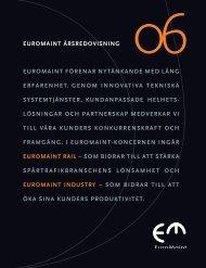 Årsredovisning 2006 (pdf) - EuroMaint Rail