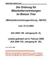 MAVO - Trier 2004 (Stand Februar 2008) - DIAG-MAV A Trier