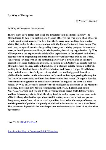 By Way of Deception - PDF eBooks Free Download