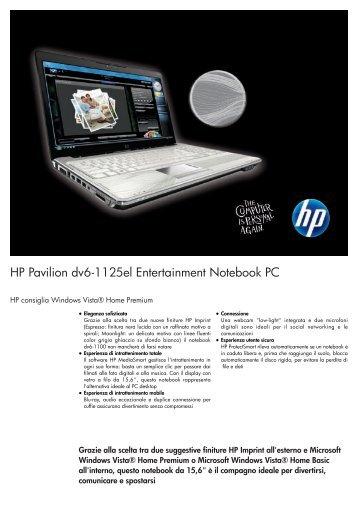 PSG Consumer 1.5C09 HP Notebook Datasheet