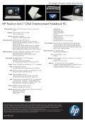 PSG Consumer 1.5C09 HP Notebook Datasheet - Page 2
