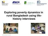 Exploring poverty dynamics in rural Bangladesh using life ... - Shiree