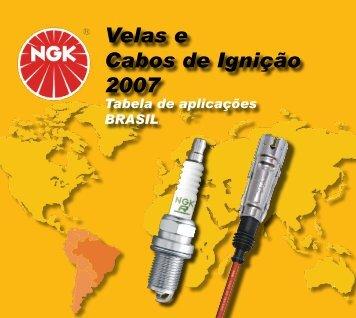 Velas e Cabos de Ignição 2007 Velas e Cabos de Ignição 2007 - NGK