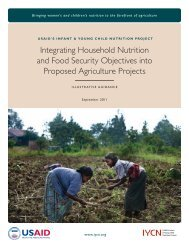 Integrating Household Nutrition and Food Security Objectives into ...
