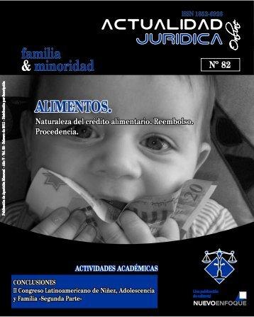 ALIMENTOS. - Actualidad Jurídica