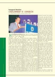 Chairman's Speech - The Fertiliser Association Of India