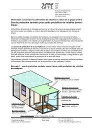 Sas de protection sanitaire pour petits poulaillers de volailles ...