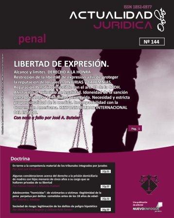 LIBERTAD DE EXPRESIÓN. - Actualidad Jurídica