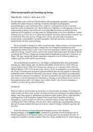 Ulike teoriperspektiv på kunnskap og læring Olga Dysthe Publisert i ...
