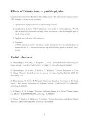 Effects of D-instantons → particle physics Useful references