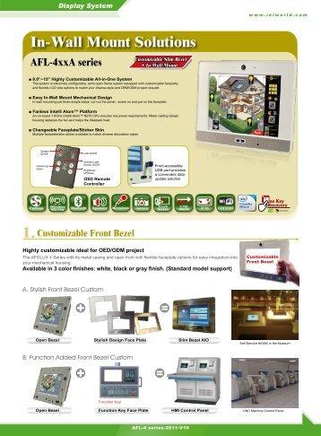 In-Wall Mount Solutions AFL-4xxA series